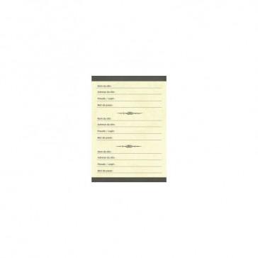 Page d'un carnet à mots de passe de Gwenaëlle Trolez