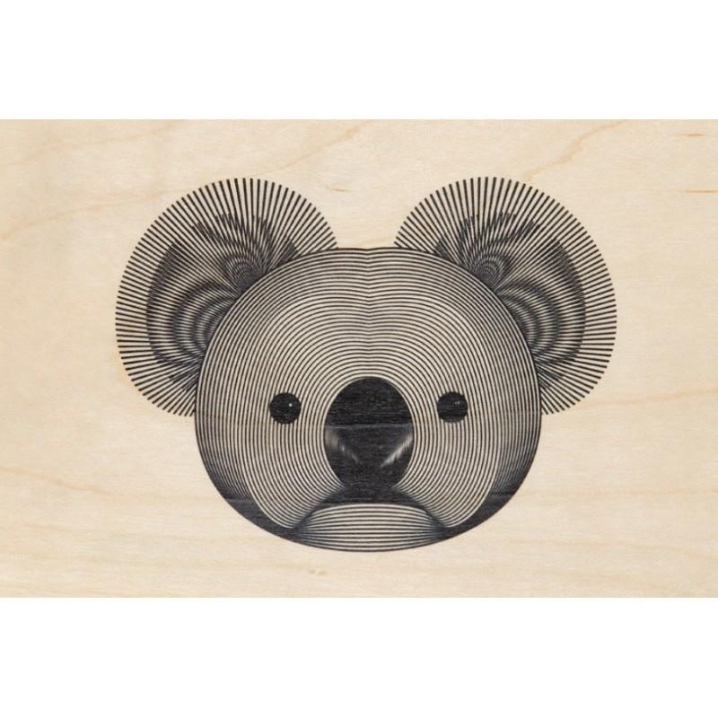 Carte postale souple en bois d'érable modèle Koala par Woodhi