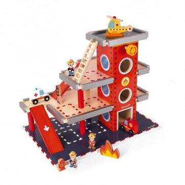 Caserne de pompiers en bois de la marque  Janod