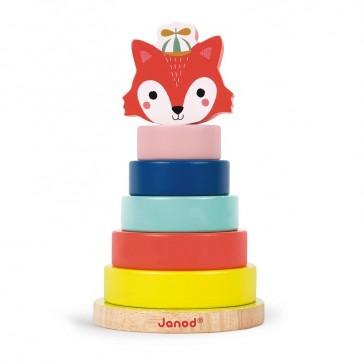 """jouet éducatif """"Empilable renard"""" par Janod"""