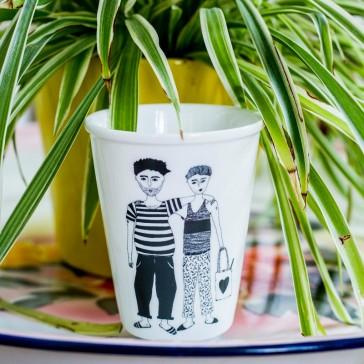 Tasse en porcelaine Matti & Lennart par helen b