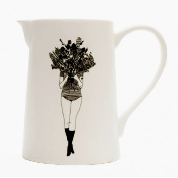 """Pichet en porcelaine """"Flower girl"""" par helen b"""
