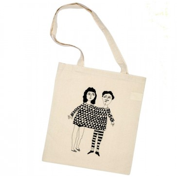"Tote bag en coton ""Happy together"" par helen b"