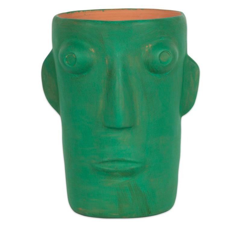 """Vase """"Cabeza vert M"""" par Kitsch Kitchen"""