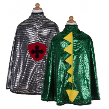 Cape réversible pour enfant chevalier-dragon par Great pretenders