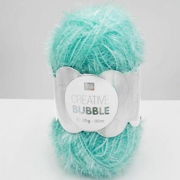 Pelote de laine à crocheter bleu ciel, Creative Bubble par Rico Design