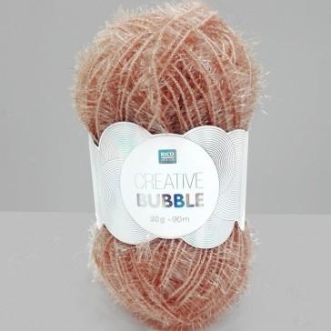 Pelote de laine à crocheter Creative Bubble couleur bois de rose par Rico Design