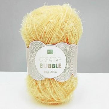Pelote de laine à crocheter jaune clair Creative Bubble par Rico Design