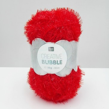 Pelote de laine à crocheter rouge par Rico Design