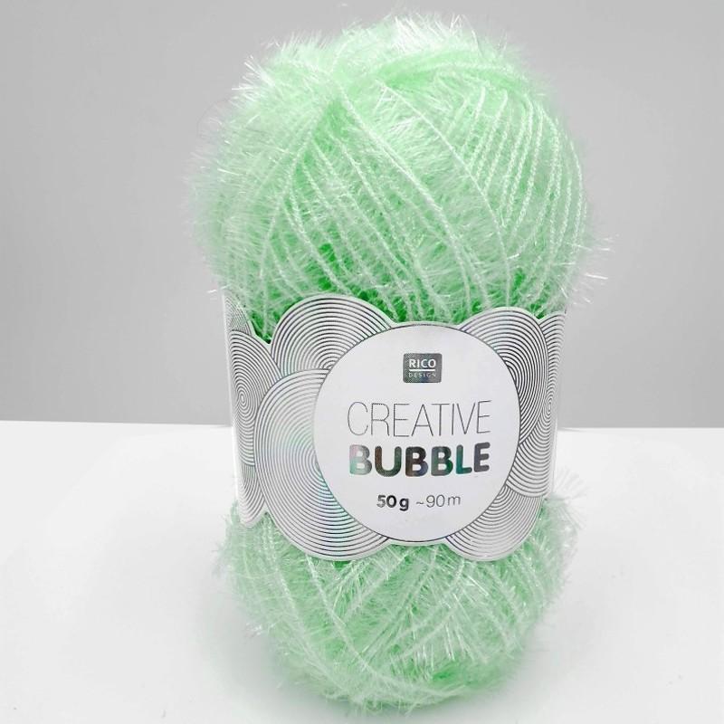 Pelote de laine à crocheter vert d'eau par Rico Design