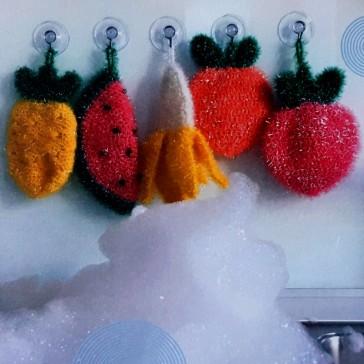 Modèles d'éponges à crocheter avec la laine Creative Bubble de Rico Design