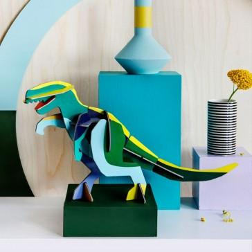 """Totem à construire en grand dinosaure, """"Giant T-Rex"""" par studio ROOF"""