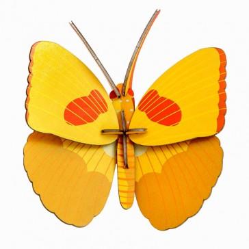 """Décoration murale à assembler """"Yellow Butterfly"""" par studio ROOF"""