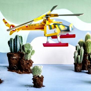 Objet décoratif à assembler en hélicoptère par studio ROOF