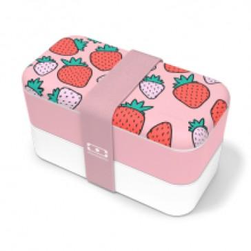 Boîte à bento à motifs de fraises par Monbento