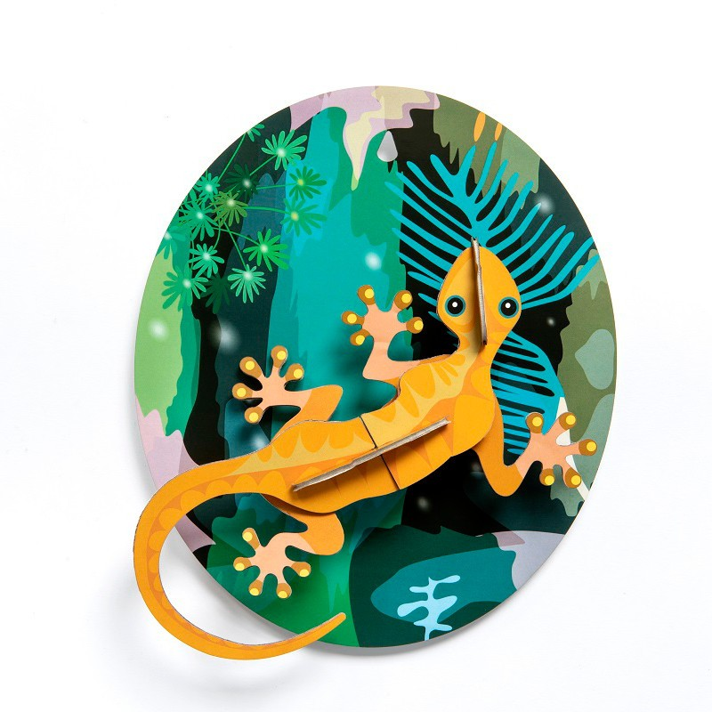 """Décoration murale à assembler """"Jungle Gecko"""" par studio ROOF"""