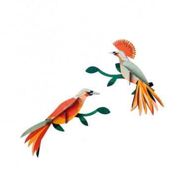 """Décoration murale à assembler """"Paradise Bird OBI"""" par studio ROOF"""
