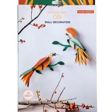 """Décoration pour le mur, couples d'oiseaux, modèle """"Paradise Bird Obi"""" par studio roof"""