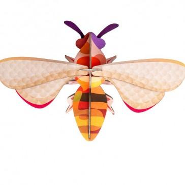 """Décoration murale à assembler en forme d'abeille """"Honey Bee"""" par studio ROOF"""