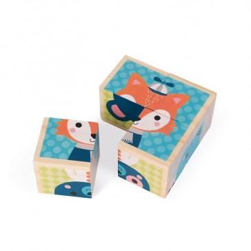 """Mes premiers cubes """"Portraits de la forêt"""" par Janod"""