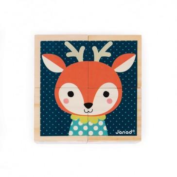 Face Cerf du jeu de cubes Mes premiers cubes, Portraits de la forêt par Janod