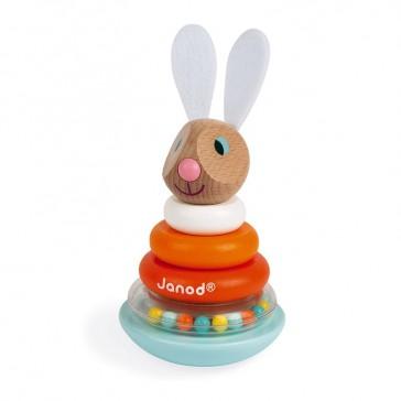 Jouet en forme de lapin à construire par la marque Janod