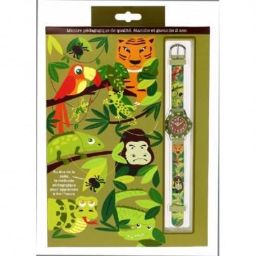 """Montre pédagogique """"Jungle"""" par Baby Watch"""