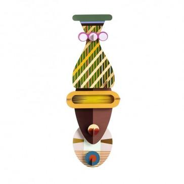 Masque africain décoratif en carton de la marque studio ROOF