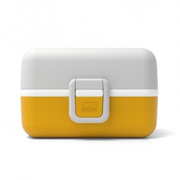 """Boîte à repas pour enfant jaune et grise """"Moutarde"""" par Monbento"""