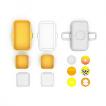 """Compartiments de la Lunch box pour enfants jaune """"MB Trésor Moutarde"""" par Monbento"""