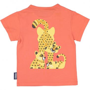 Dos du tee shirt en coton bio guépard modèle Cheetah par Coq en pâte
