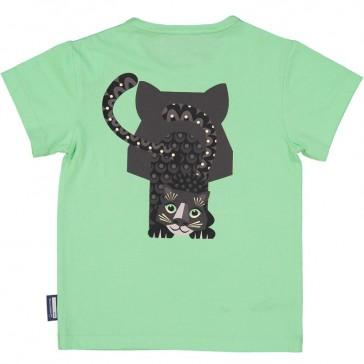 Dos du tee shirt à manches courtes en coton bio Jaguar par Coq en pâte