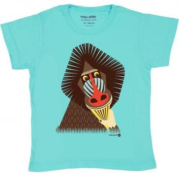 T-shirt à motif de singe Mandrill par Coq en Pâte