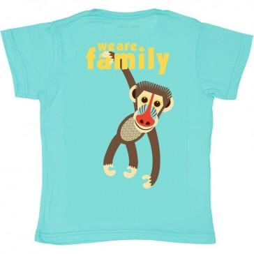"""Dos du t-shirt pour enfant de la collection """"We are family"""" modèle singe mandrill par Coq en pâte"""