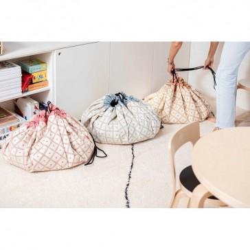 Collection de sacs de rangement tapis de jeux Play&go gamme Geo