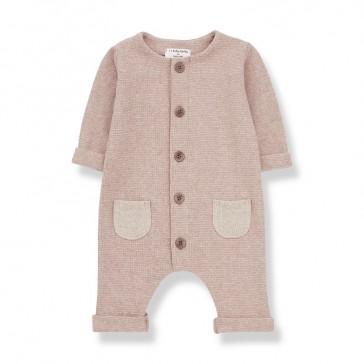 Combinaison pour bébé rose poudré Montblanc par One more in the family