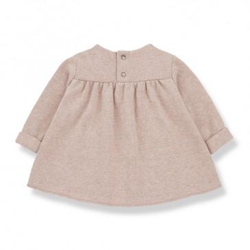 Robe ample à boutons pression pour bébé, modèle Chardonnet, par 1 + in the family