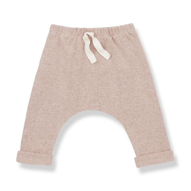 """Pantalon """"Avoriaz"""" rose poudré par la marque 1 + in the family"""