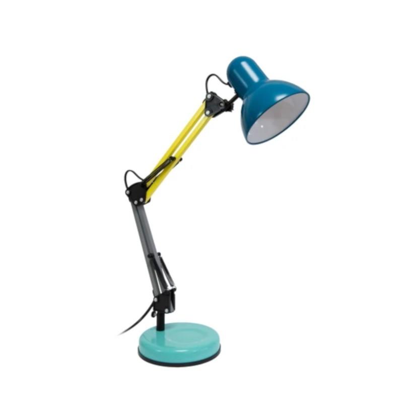 Lampe de bureau en métal articulée bleue, modèle Ralph par Fisura