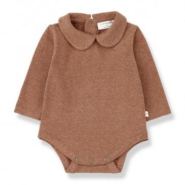 Body pour bébé à manches longues Maladeta couleur caramel par One more in the family