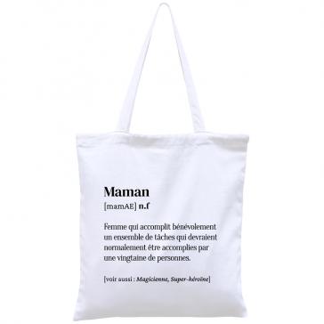 """Tote bag humoristique """"Maman"""" par Hindbag"""