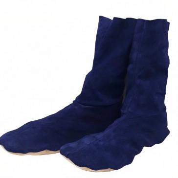 Chaussons glamour 40-41 en cuir stretch bleu marine par Bandit Manchot