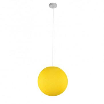 """Suspension """"Globe moyen jaune"""" par La Case de Cousin Paul"""