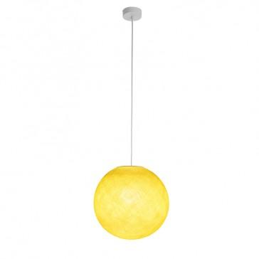 """Luminaire """"Globe moyen jaune"""" par La Case de Cousin Paul"""