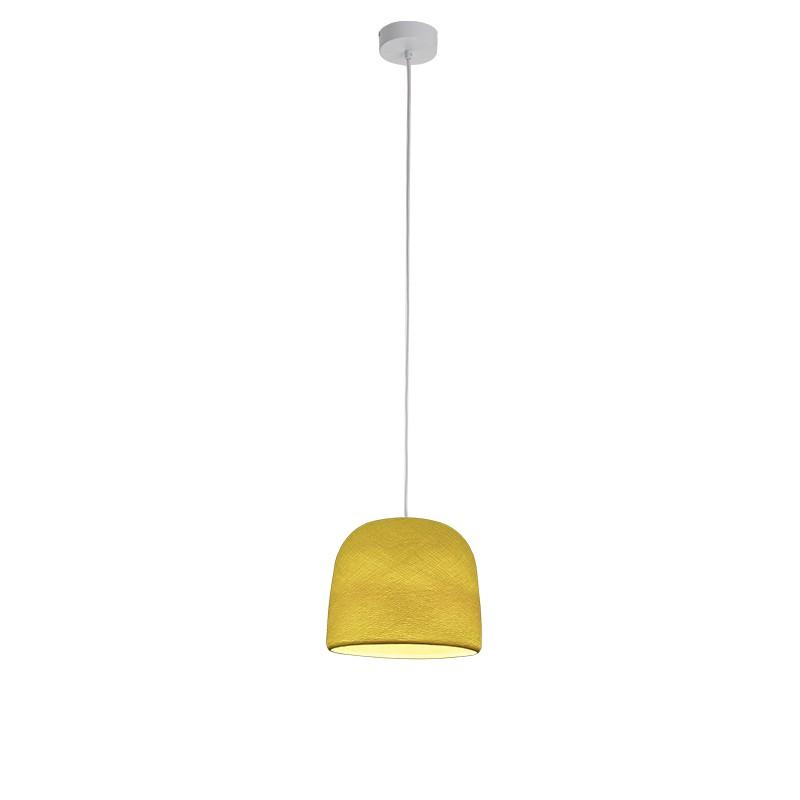 """Luminaire """"Cloche jaune"""" par La Case de Cousin Paul"""