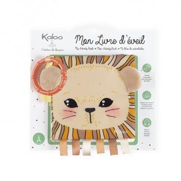 """Packaging du Livre d'éveil """"Le lionceau curieux"""" par Kaloo"""
