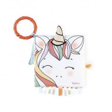 """Livre d'éveil """"La licorne joyeuse"""" par Kaloo"""