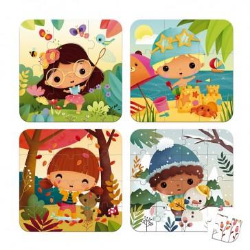 Puzzles pour enfants pour apprendre les 4 saisons par Janod