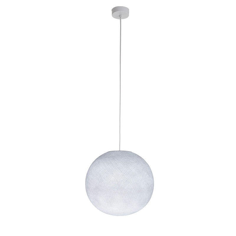 """Luminaire """"Globe moyen blanc"""" par La Case de Cousin Paul"""