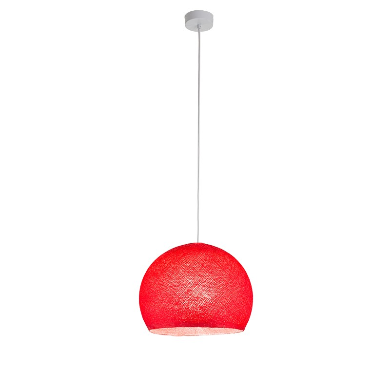 """Luminaire """"Coupole moyen rouge"""" par La Case de Cousin Paul"""